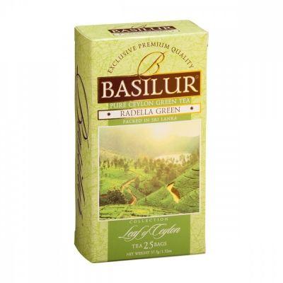 Чай Basilur 'Лист цейлона - Раделла' зеленый 25 пакетиков