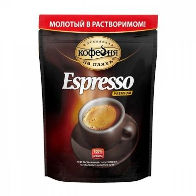 Кофе Московская кофейня на паяхъ 'Espresso' молотый в растворимом