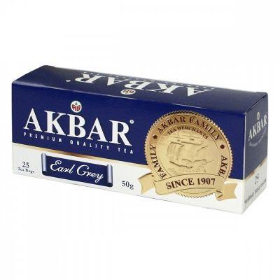 Чай Akbar 'Earl Grey' черный с бергамотом 25 пакетиков