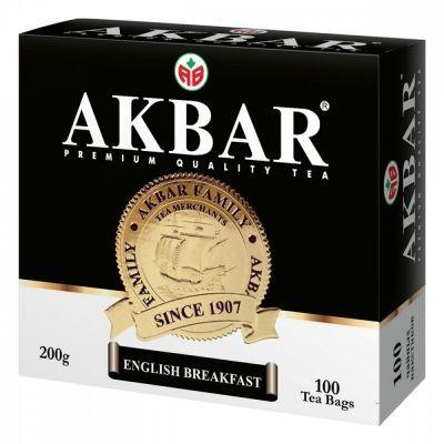 Чай Akbar 'English Breakfast' черный 100 пакетиков