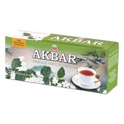 Чай Akbar 'Зеленый с жасмином' 25 пакетиков