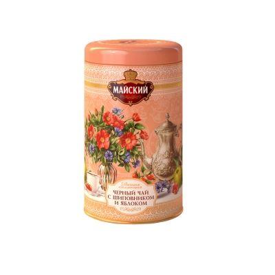Чай Майский 'Шиповник и яблоко' Дачная Коллекция черный с добавками