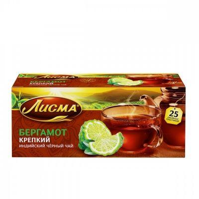 Чай Лисма 'Бергамот' черный с бергамотом 25 пакетиков