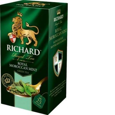 Чай Richard 'Royal Moroccan Mint' зеленый с марокканской мятой 25 пакетиков