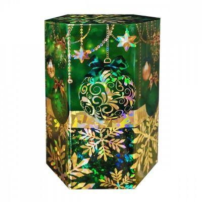 Чай ИМЧ 'Сияние праздника. Шестиугольник зелёный' чёрный листовой