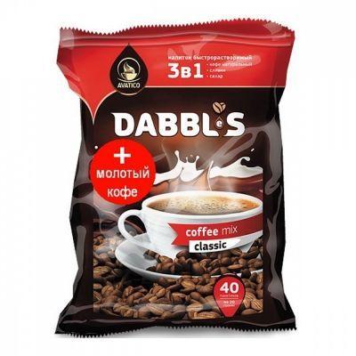 Кофе Avatico 'Dabbl's' растворимый с молотым 3 в 1 40 сашетов