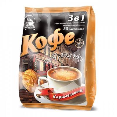 Кофе Avatico 'По-французски карамельный' растворимый 3 в 1 20 сашетов