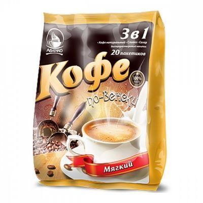 Кофе Avatico 'По-венски мягкий' растворимый 3 в 1 20 сашетов