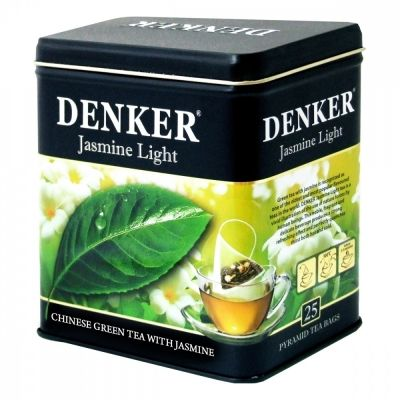 Чай Denker 'Jasmine Light' зеленый с жасмином 25 пирамидок