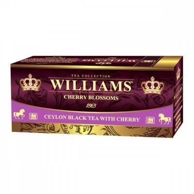 Чай Williams 'Cherry Blossoms' черный с добавками 25 пакетиков