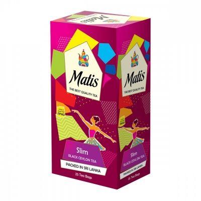 Чай Matis 'Slim' черный с добавками 25 пакетиков