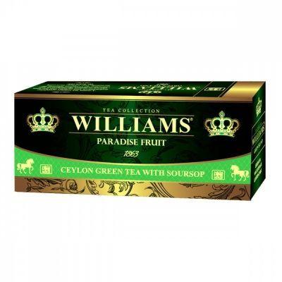 Чай Williams 'Paradise Fruit' зеленый с добавками 25 пакетиков