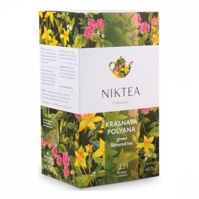 Чай Niktea 'Krasnaya Polyana' зеленый с добавками 25 пакетиков