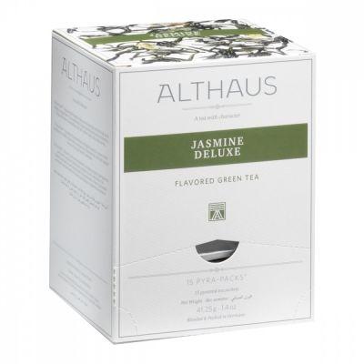 Чай Althaus 'Jasmine Deluxe' зеленый с жасмином 15 пирамидок