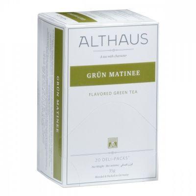 Чай Althaus 'Grun Matinee' зеленый 20 пакетиков