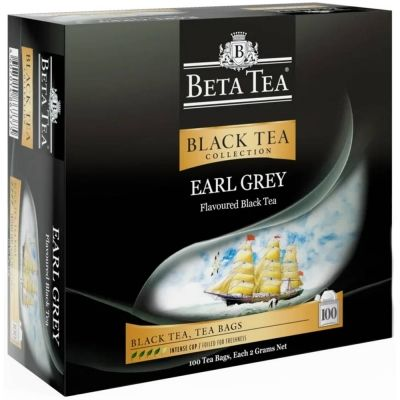 Чай Beta Tea 'Бергамот' чёрный с бергамотом 100 пакетиков