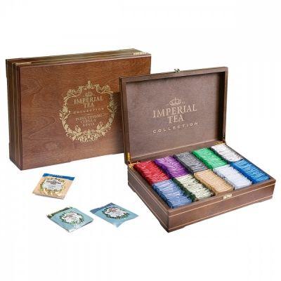 Чай Imperial Tea Collection ассорти в деревянной шкатулке 10 видов 250 сашетов