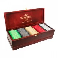 Чай Imperial Tea Collection ассорти в деревянной шкатулке 5 видов 125 сашетов
