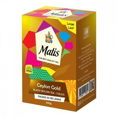 Чай Matis 'Золото Цейлона' чёрный