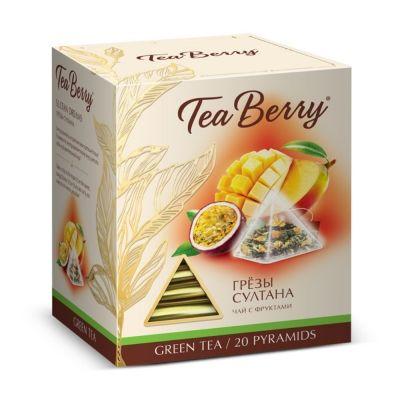 Чай Tea Berry 'Грезы султана' зелёный с добавками 20 пирамидок