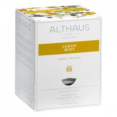 Чай Althaus 'Lemon Mint' травяной 15 пирамидок