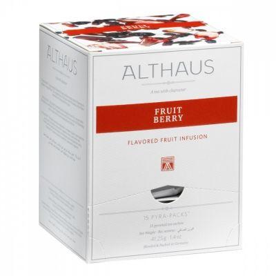 Чай Althaus 'Fruit Berry' травяной 15 пирамидок