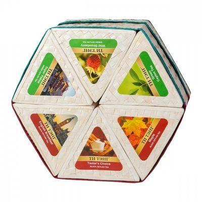 Чай Ти Тэнг 'Шестигранная плетеная коробка' набор из 6 видов чая по 50 гр