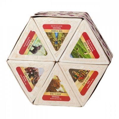 Чай Ти Тэнг 'Прямоугольная плетеная коробка' набор из 6 видов черного чая по 50 гр
