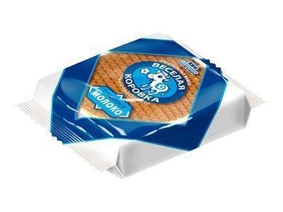 Карамельные вафли 'Весёлая коровка' сгущённое молоко