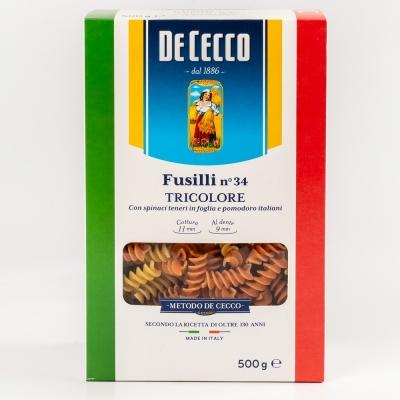 Паста De Cecco №034 Фузилли триколоре