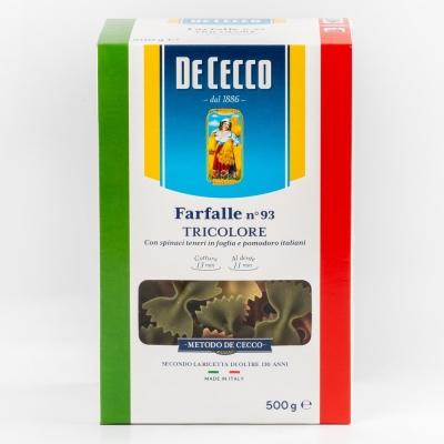 Паста De Cecco №093 Фарфалле триколоре