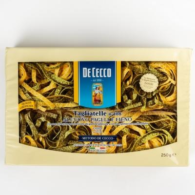 Паста De Cecco №108 Тальятелле 'Палья и Фено' с добавлением яйца и шпината