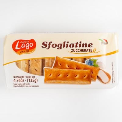 Печенье Gastone Lago Sfogliatine слоёное с сахарной глазурью