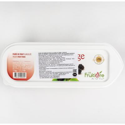 Пюре ежевики 10% сахара La Fruitiere замороженное