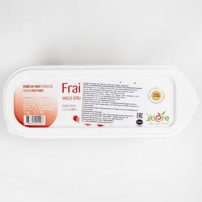 Пюре земляники 10% сахара La Fruitiere замороженное