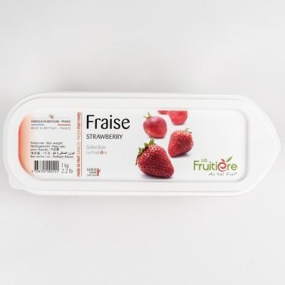 Пюре клубники 10% сахара La Fruitiere замороженное