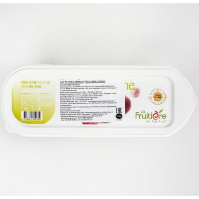 Пюре персика красного 10% сахара La Fruitiere замороженное