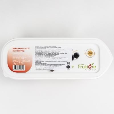 Пюре смородины черной 10% сахара La Fruitiere замороженное