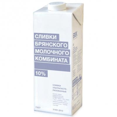 Сливки 10% БМК питьевые ультрапастеризованные