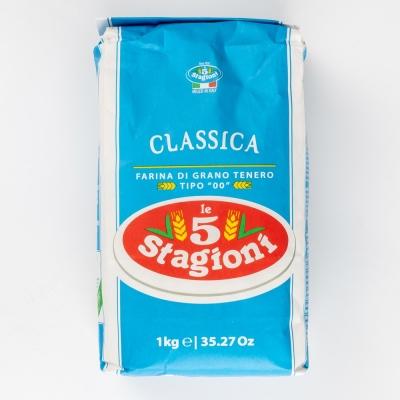 Мука Le 5 Stagioni 'Классика' (голубой лейбл) из мягких сортов пшеницы