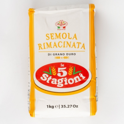 Мука Le 5 Stagioni 'Семола' из твёрдых сортов пшеницы мелкого помола