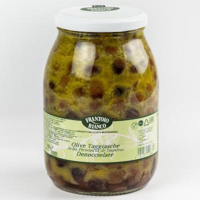Оливки Таджаска Frantoio Bianco без косточки в масле