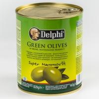 Оливки Delphi с косточкой в рассоле Super Mammouth ж/б