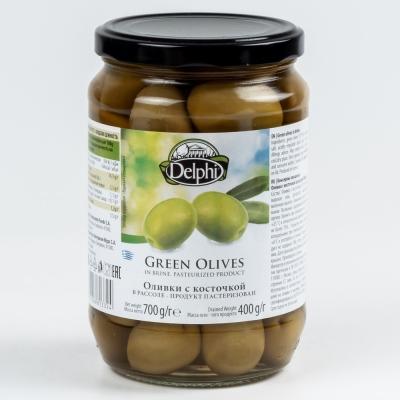 Оливки Delphi с косточкой ст/б