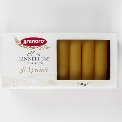 Макаронные изделия из твердых сортов пшеницы GranOro Gli Speciali Cannelloni №76 Канеллони