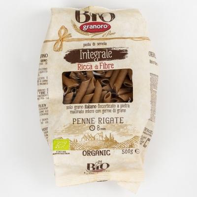 Макаронные изделия из твердых сортов пшеницы GranOro Biologica Integrale №103 Пенне Ригате