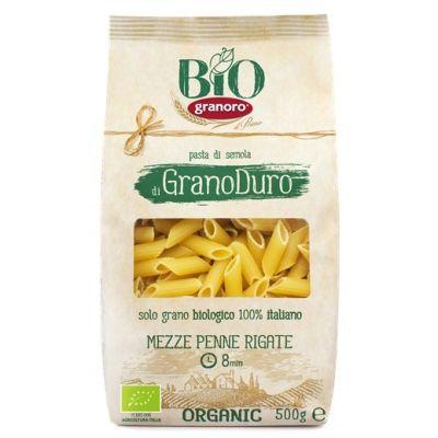 Макаронные изделия из твердых сортов пшеницы GranOro Biologica №106 Мецце Пенне Ригате