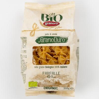 Макаронные изделия из твердых сортов пшеницы GranOro Biologica №198 Фарфалле