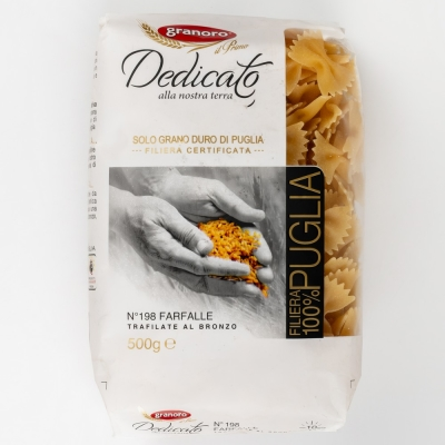 Макаронные изделия из твердых сортов пшеницы GranOro Dedicato № 198 Фарфалле