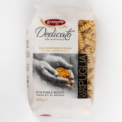 Макаронные изделия из твердых сортов пшеницы GranOro Dedicato № 75 Фузили Букати